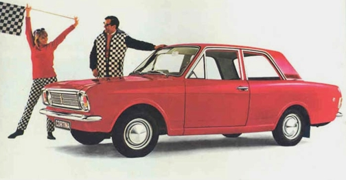 1967 Red Ford Cortina