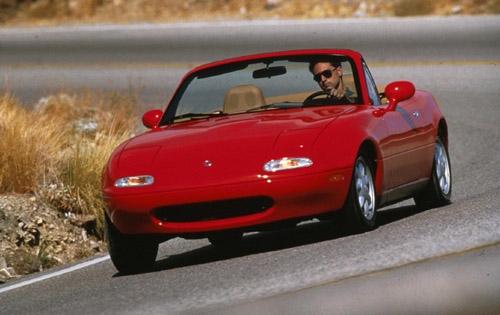 Red 1993 Mazda