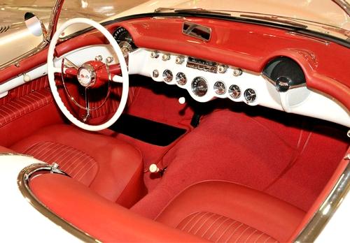 Interior of a 1953 Chevrolet Corvette