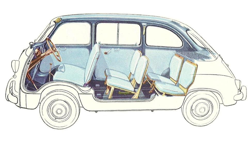 Fiat 600 Multipla 6 Seat Cutaway