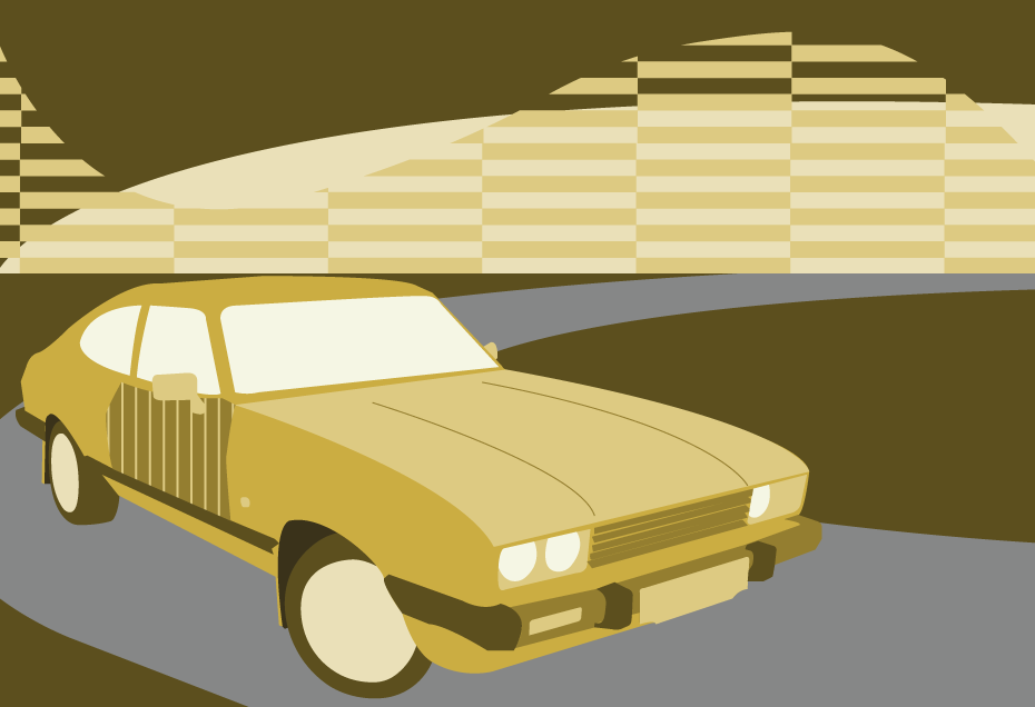 ford capri illustration