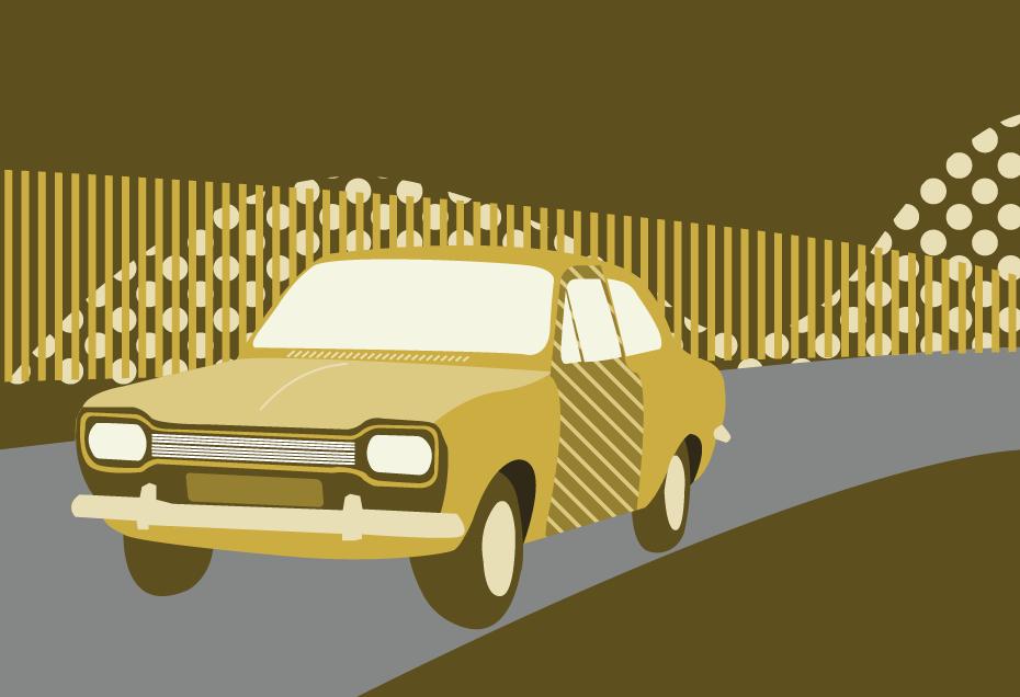 ford escort 1968 illustration
