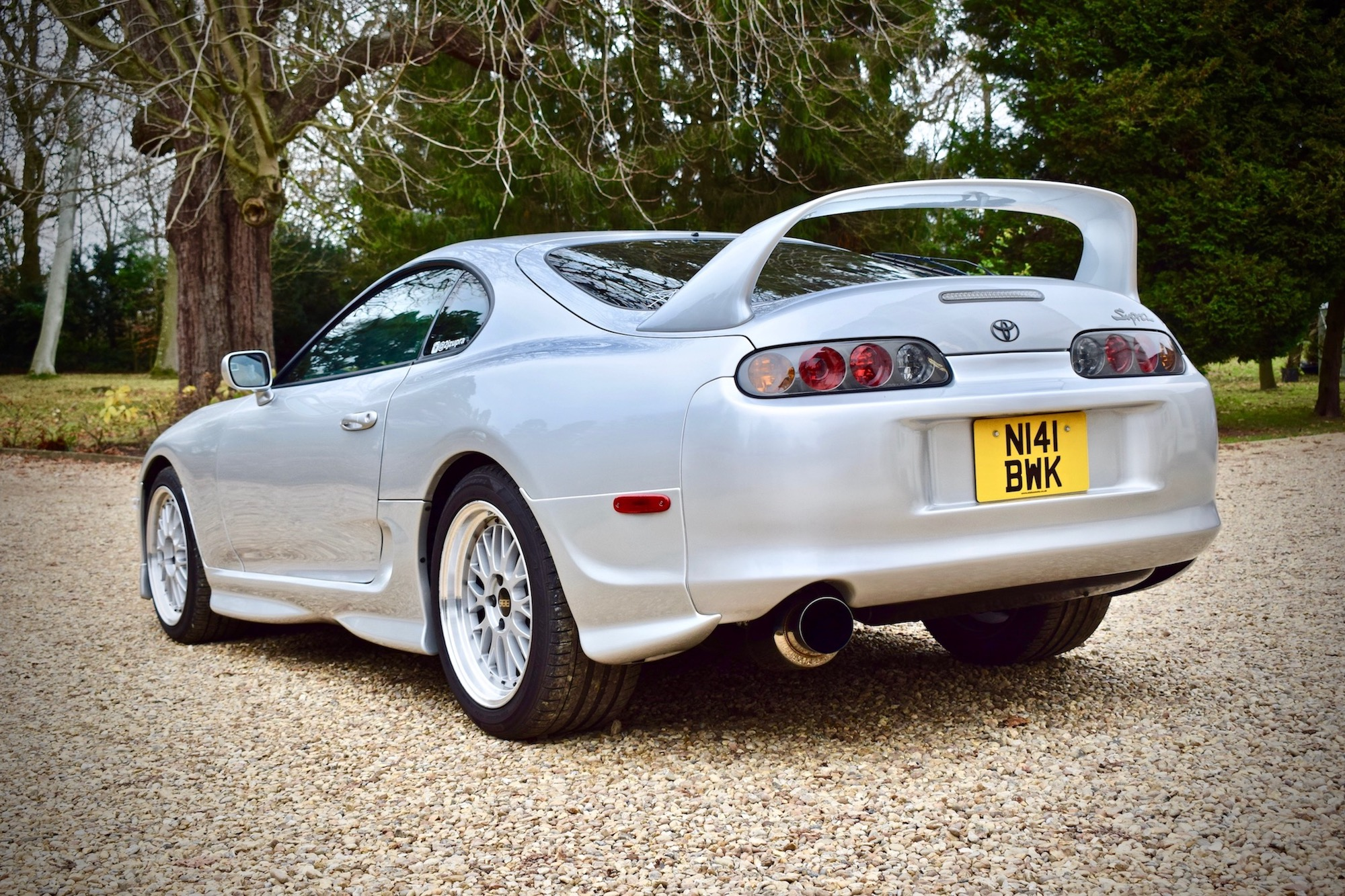 Toyota Supra mark 4 rear three quarter view