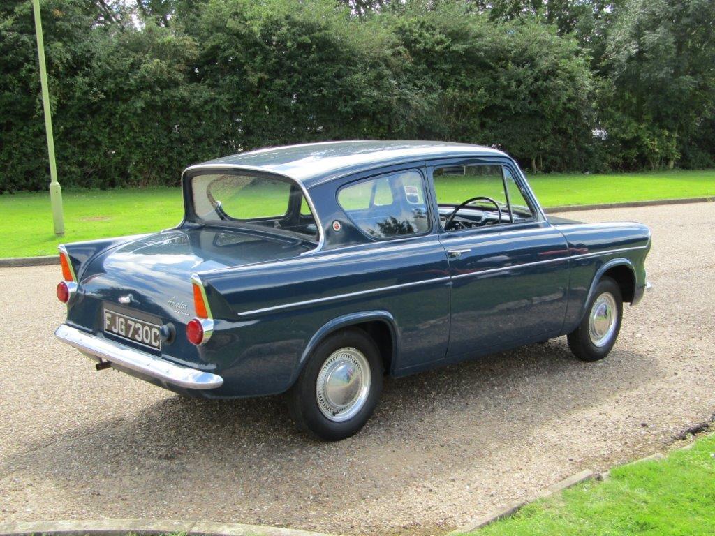 Ford Anglia 105E Deluxe rear view