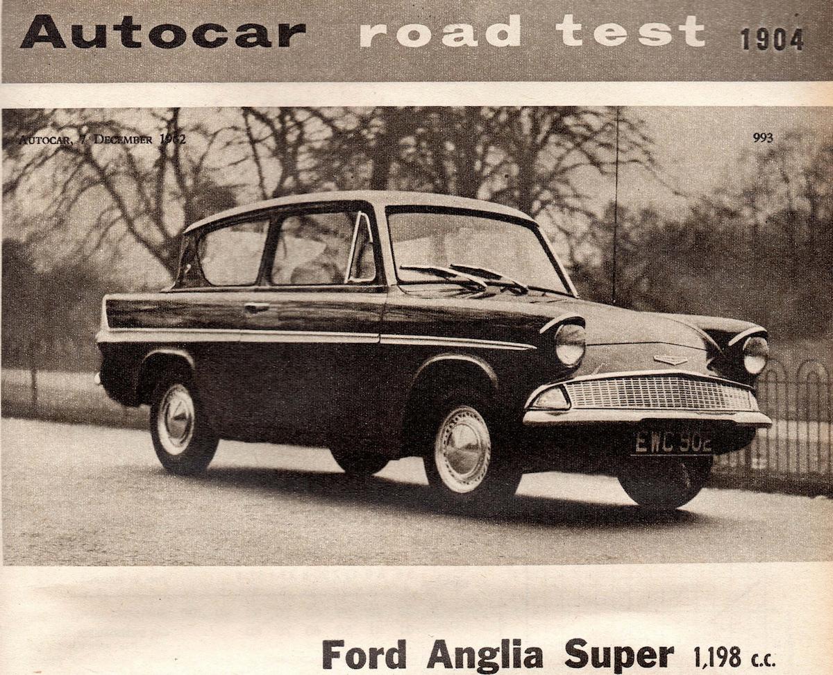 Autocar Ford Anglia road test