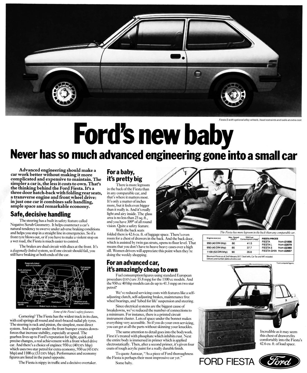 Ford Fiesta advert 1976