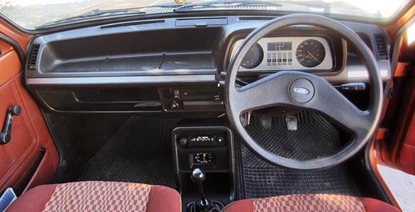 Ford Fiesta 1976 interior