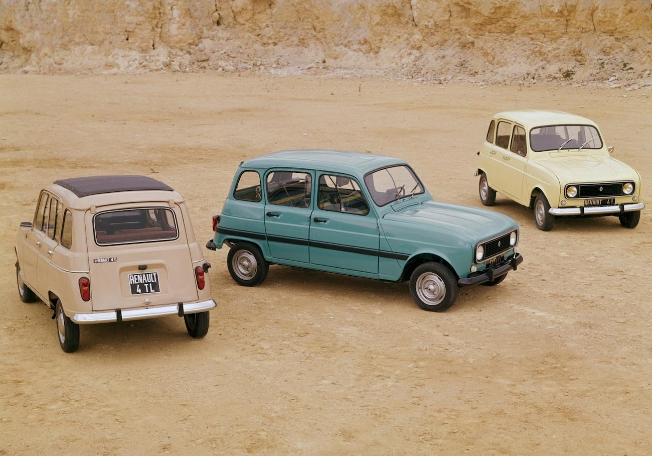 Renault 4 group shot