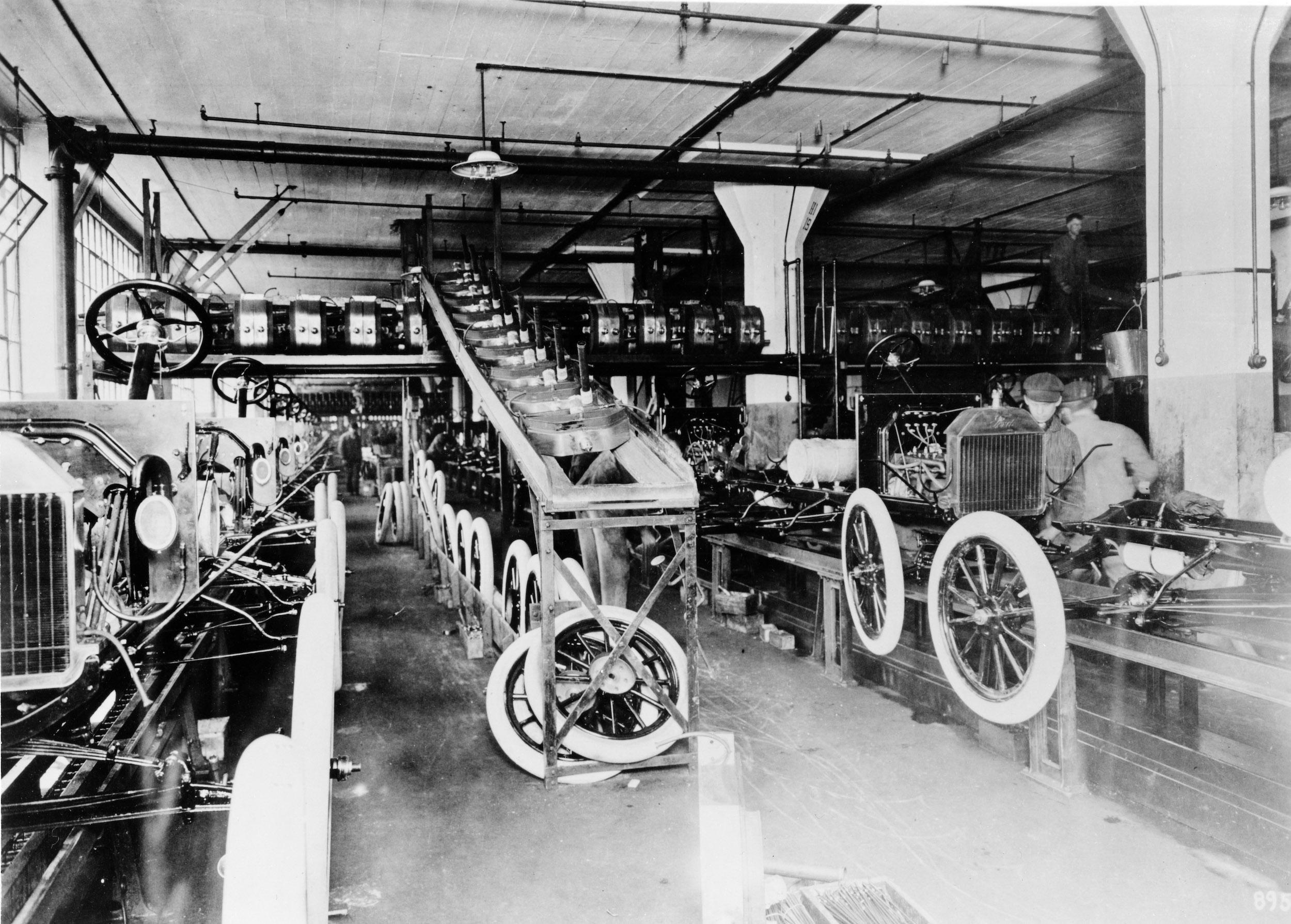 Model T assembly Highland Park
