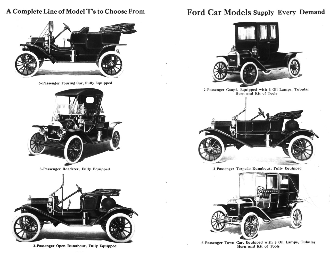 Ford Model T body types