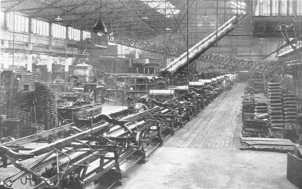 Assembly line at Trafford Park