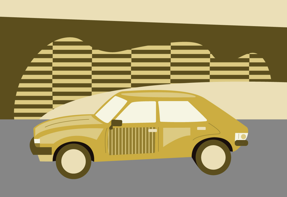 Austin Allegro drawing
