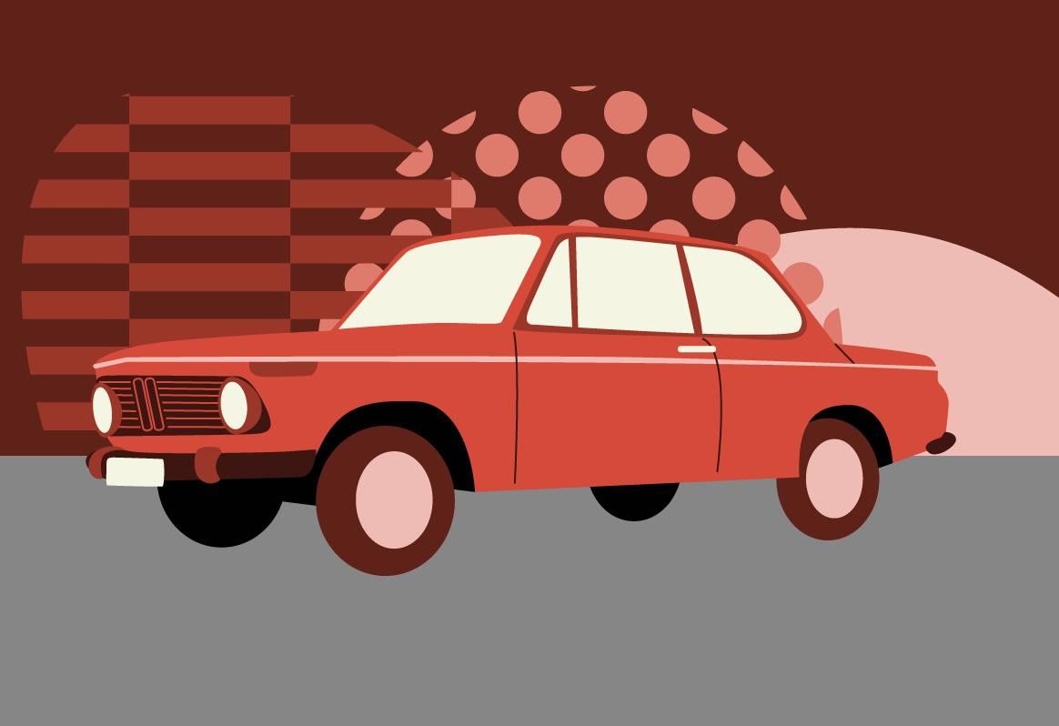 BMW 02 series illustration
