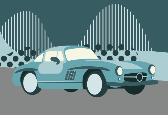 Mercedes-Benz 300SL illustration