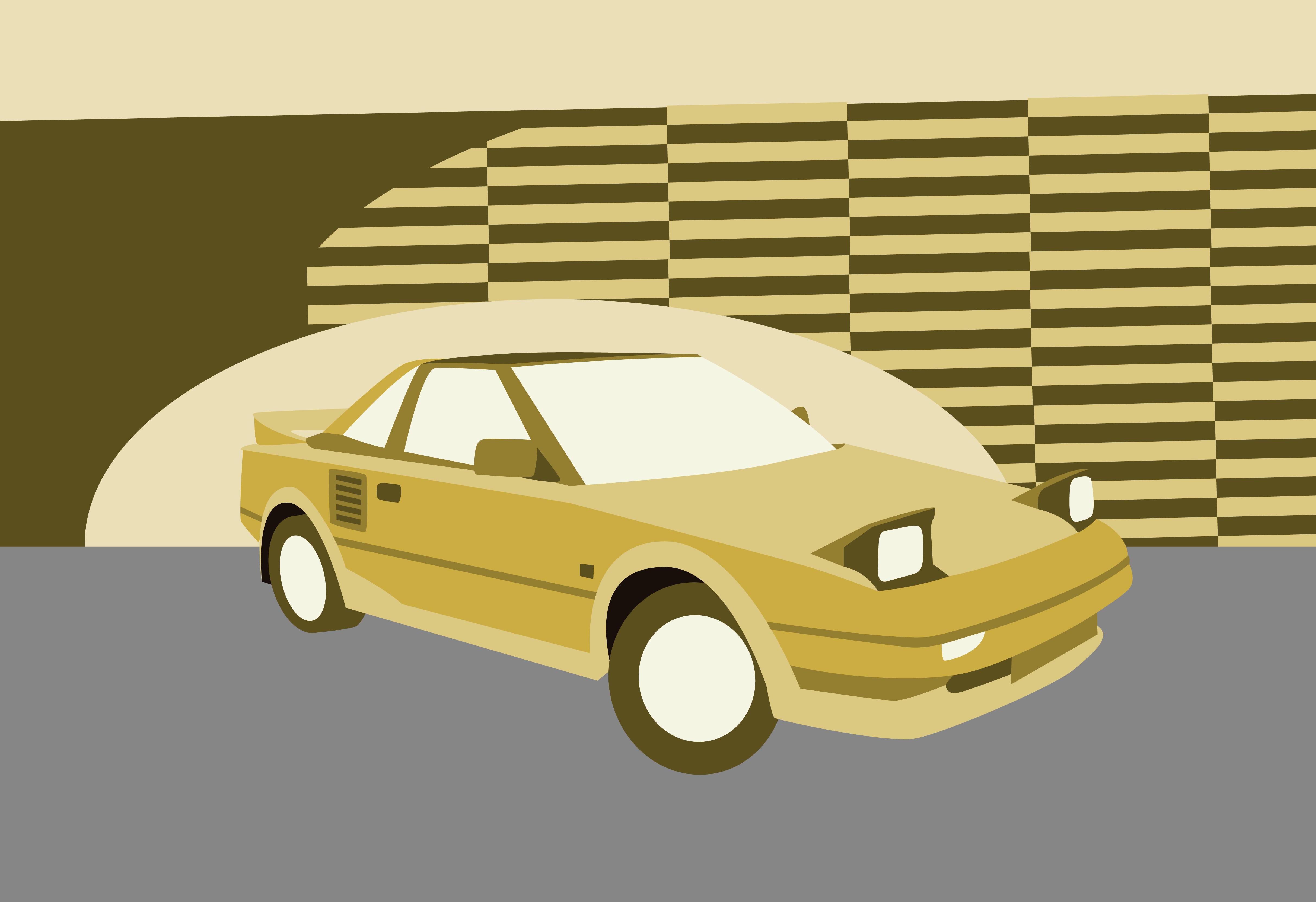 Toyota MR2 Mk1 illustration