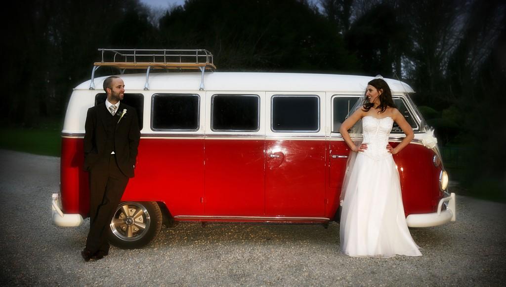VW Camper Wedding Car