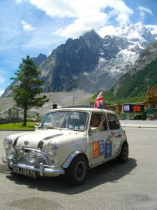 The Mini nestles near the foot of the mountains