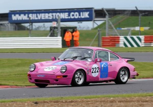 Sarah in the Pink Panther at Silverstone.