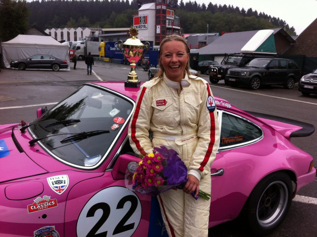 Sarah is awarded top lady driver prize