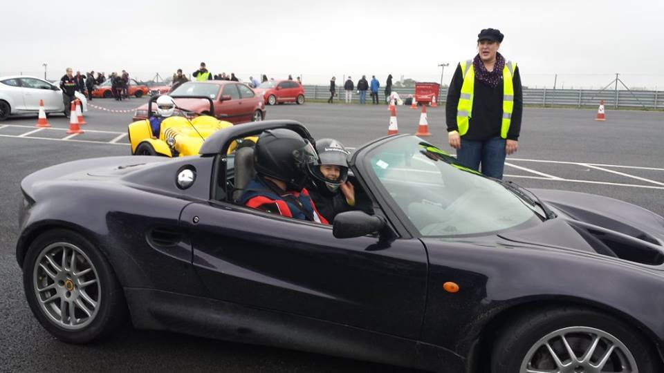 Claire's eldest son, preparing for his Elise thrill ride!