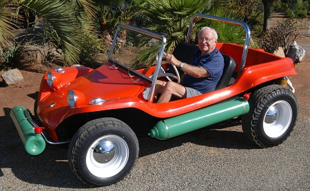 Bruce Meyer with the first Meyers Manx