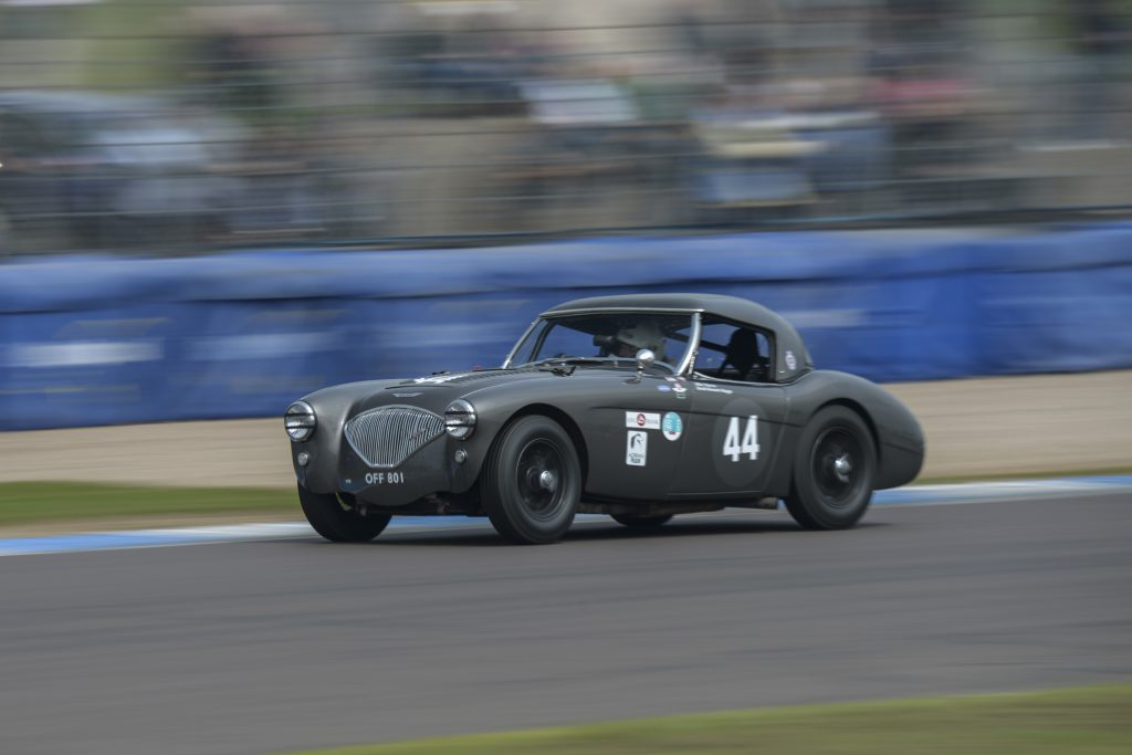 The Healey in action