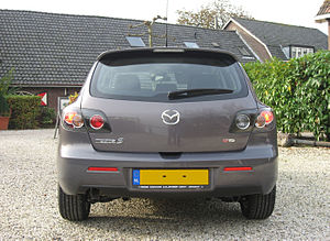 2007 Mazda 3 hatchback rear