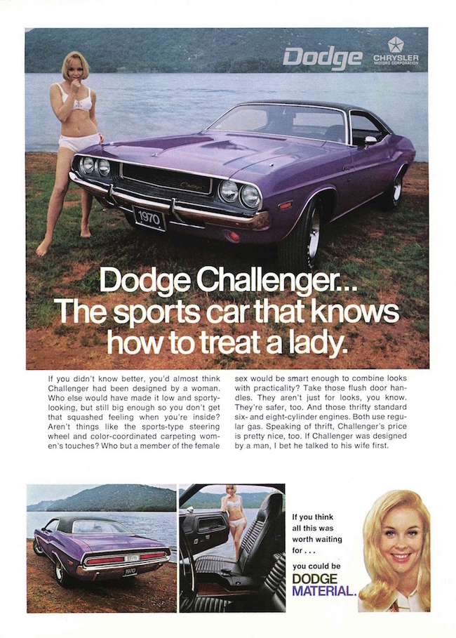 1970 Dodge Challenger advertisement