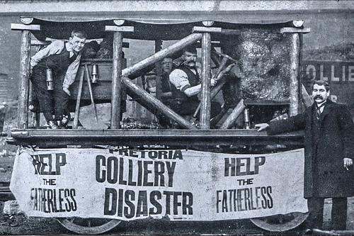Pretoria pit disaster fundraising wagon.
