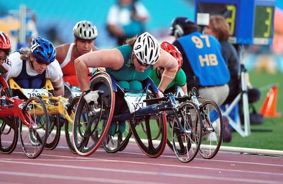 Louise Sauvage (AUS) wheelchair race Athletics 2000 Sydney PG