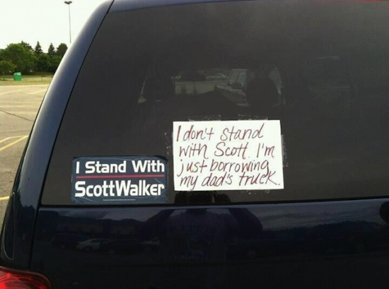 Scott walker bumper sticker