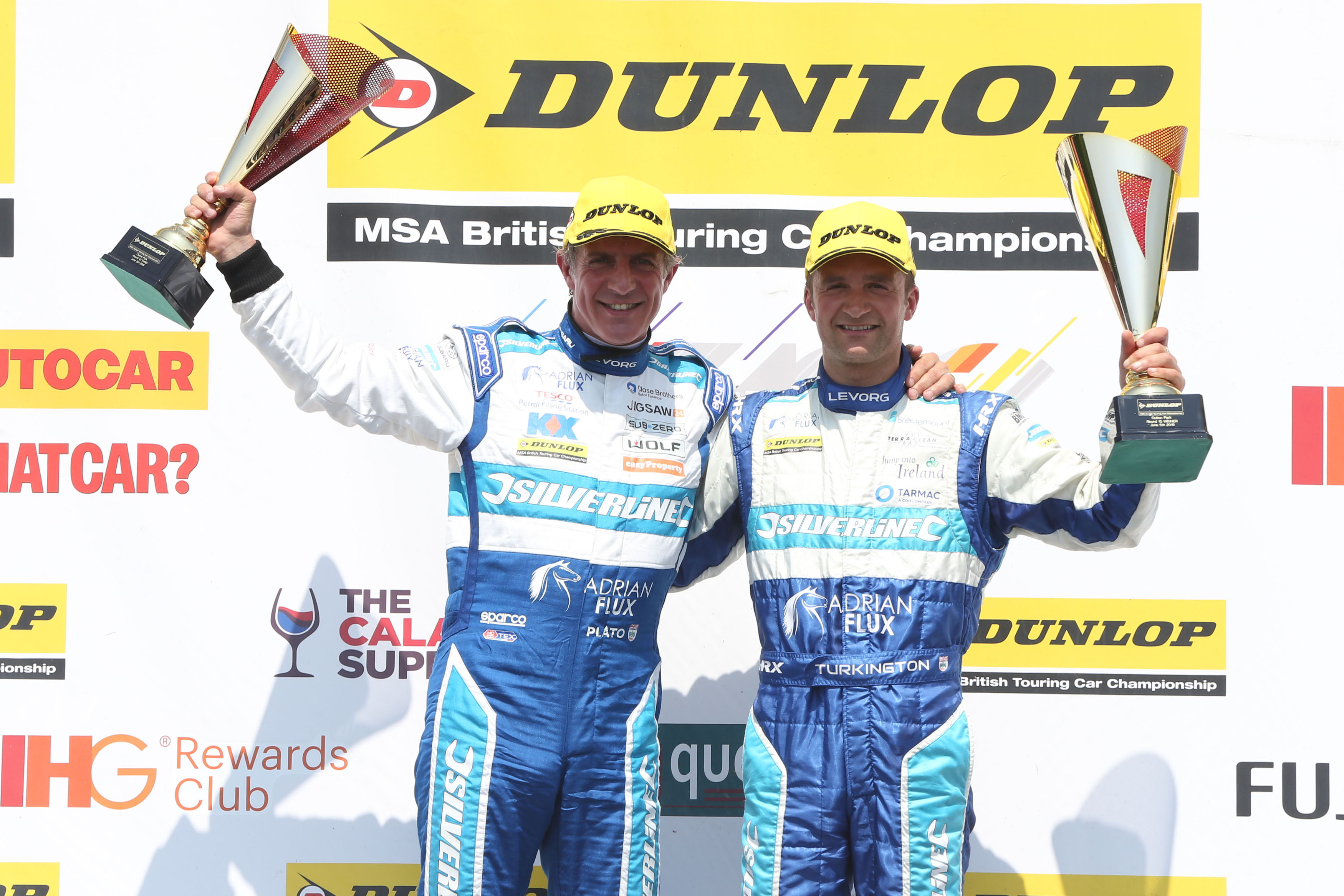 Jason PLato Colin Turkington podium
