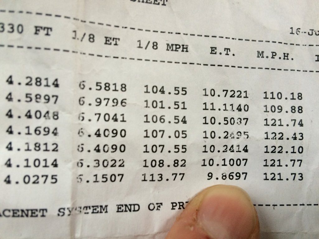 Flux Capacitor world record timing slip
