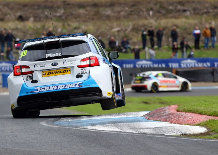 Jason Plato in Subaru at Knockhill