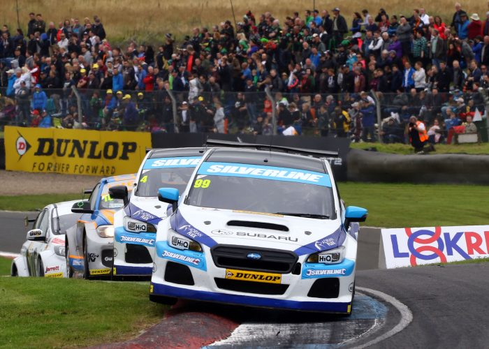 Jason Plato in action at Knockhill BTCC