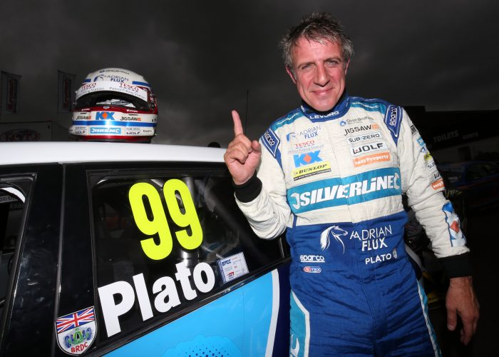 Jason Plato after winning in 500th race at Knockhill