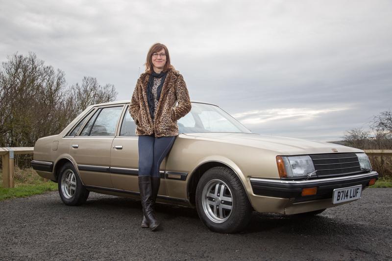 Melissa Jardine with her 1984 Nissan Datsun Laurel