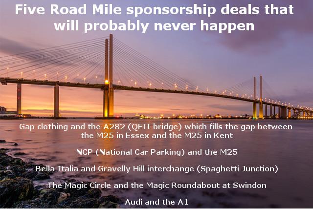 Five Road Mile sponsorship deals that won't happen