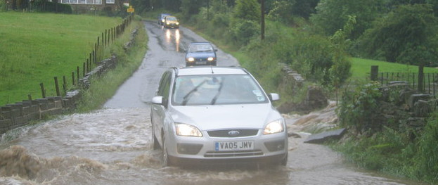 How to drive through floods safely