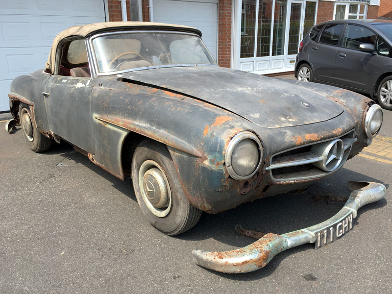 Classic car for restoration