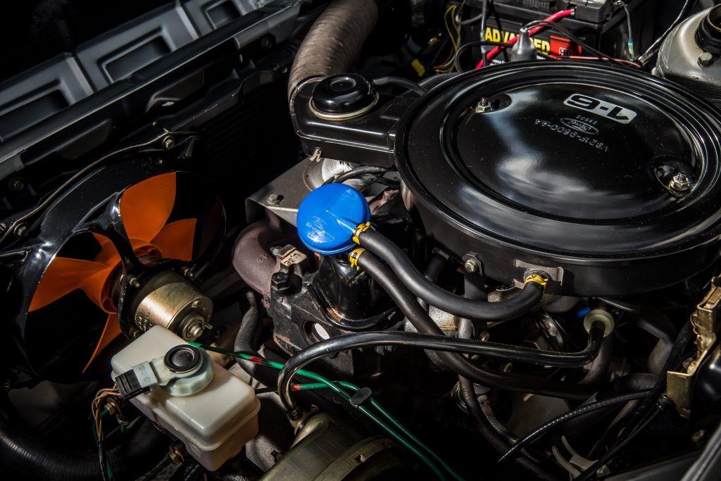 Ford Fiesta XR2 engine bay