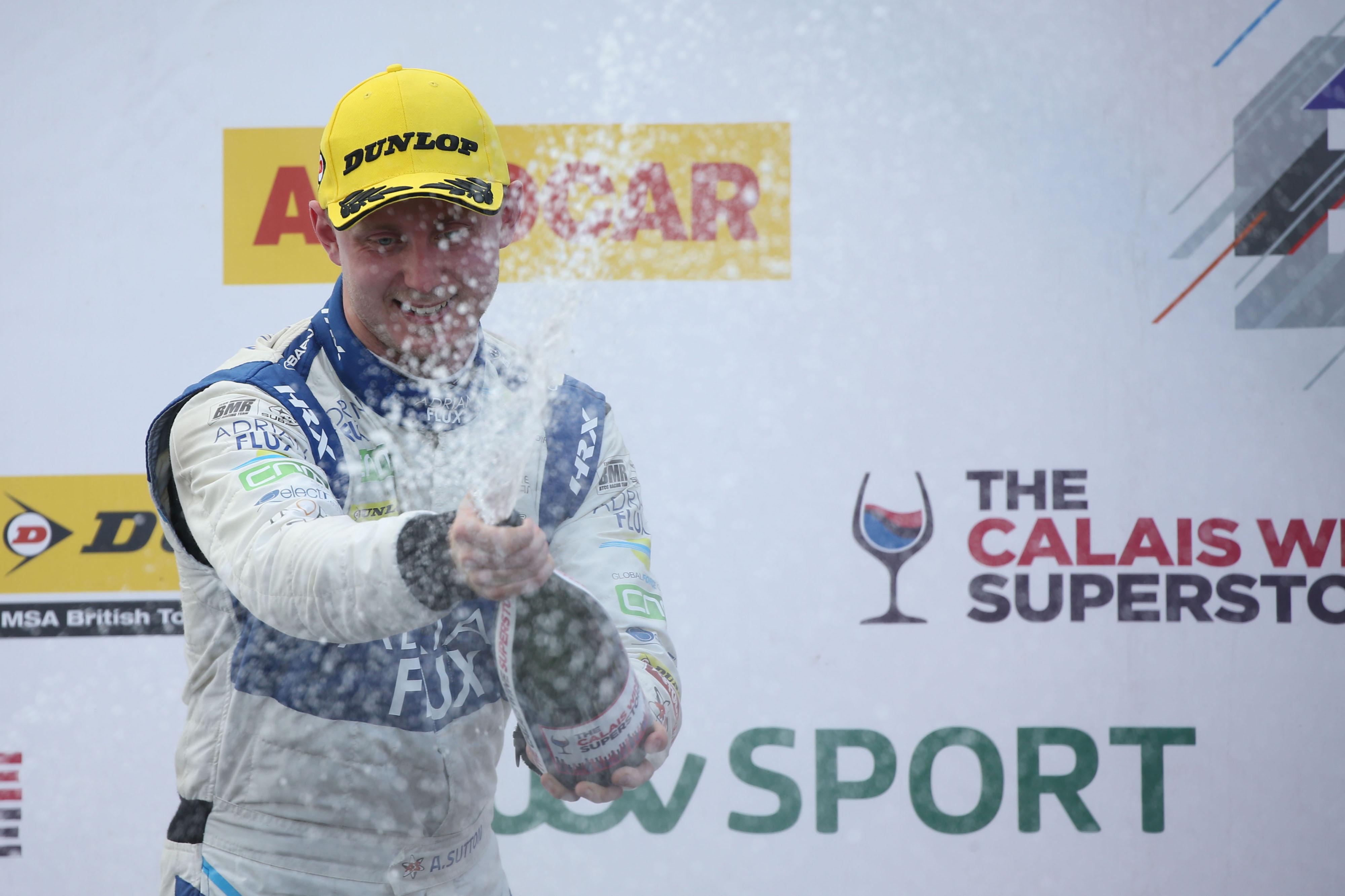 Ash Sutton podium Silverstone BTCC