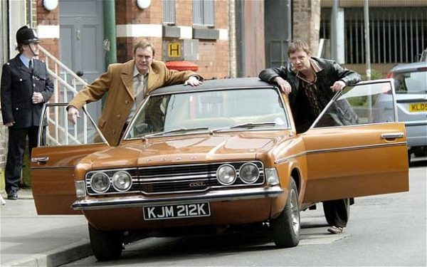 Gene Hunt with the Cortina in Life on Mars