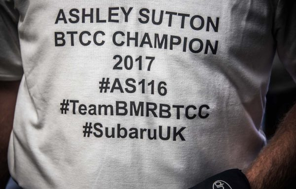 Ash Sutton BTCC Champion 2017 t-shirt