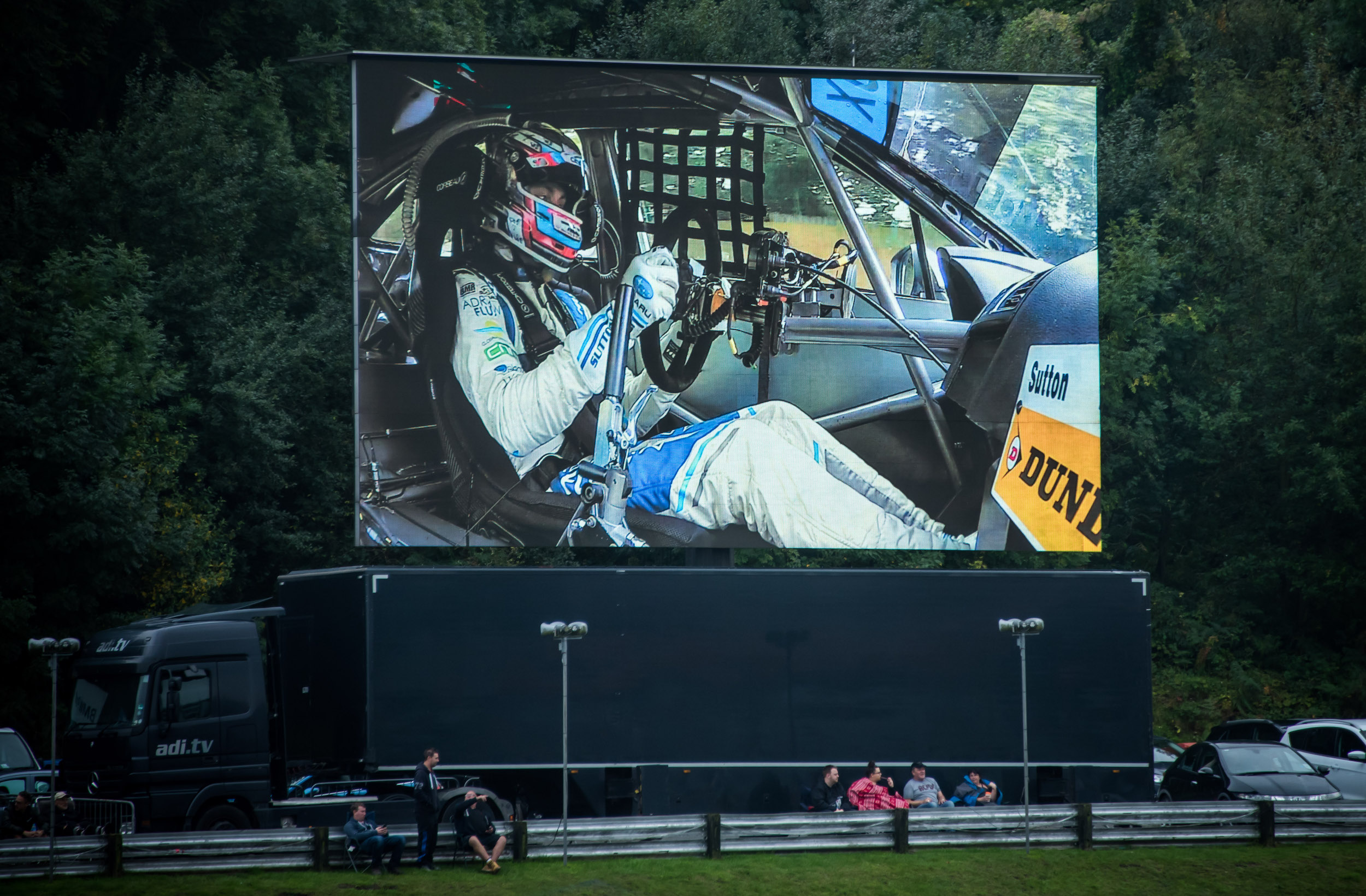 Ash Sutton big screen BTCC Brands Hatch