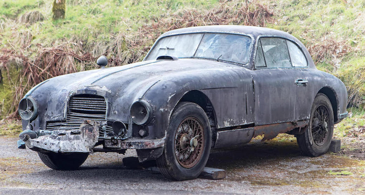 Classic cars : Rotten Aston Martin for sale and demanding 'labour of love' restoration