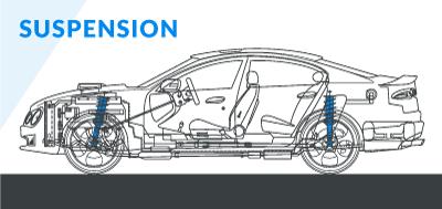 Schematic diagram of modified car suspension