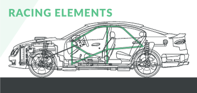 Schematic diagram of modified car racing elements