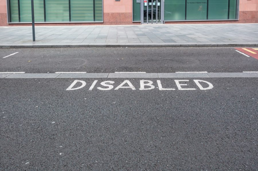 Disabled bay in the UK