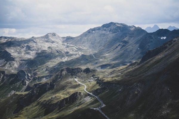 Panoramic view of Grossglockner High Alpine Road in Austria